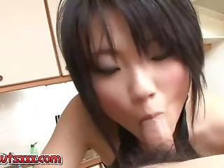 Petite Asian Sucks A Small Cock