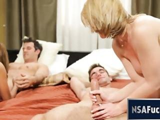 Real Amateur Swingers Met On Nsafuck.com Having Great Foursome