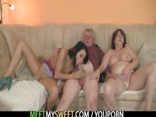 Innocent Girl Is Seduced By A Granny And Fucked By A Daddy