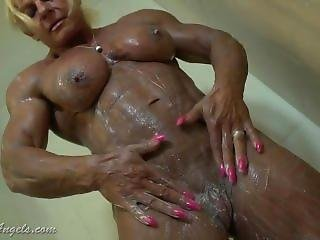 Huge Fbb In The Shower