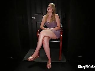 Blonde Cock Sucker Inhales Cum In Gloryhole