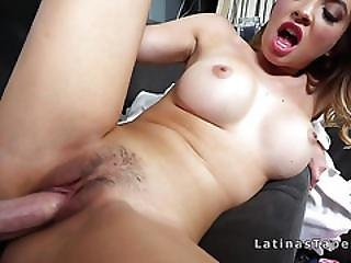 Latina Stepsis Sucks And Fucks Big Cock