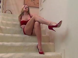 blonde, fétiche, star du porno, pov