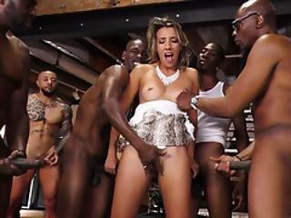 Sophia Grace Interracial Anal Gangbang