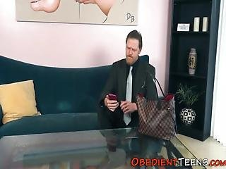 Teenager Takes Huge Cock