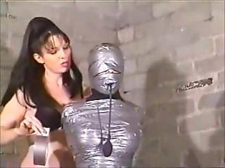Girl Tape Mummified And Gagged By Lesbian Girl