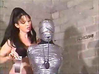 Girl Tape Mummified And Gagged By Lesbian Girl