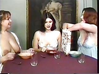 Big Boob, Boob, Brunette, Drinking, Fetish, Foot, Lesbian, Maid, Mature, Milf, Milk, Threesome