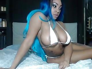 ερασιτεχνικό, μαύρο, πούτσα, Ebony, Teasing, Webcam