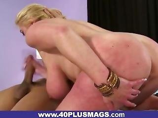 Fat-ass Mature Blonde Fucked From Behind
