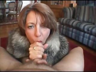 Hot Milf Thank You For My Fur Coat Blowjob