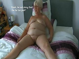 68 Year Old Granny Licking Her Own Nipples