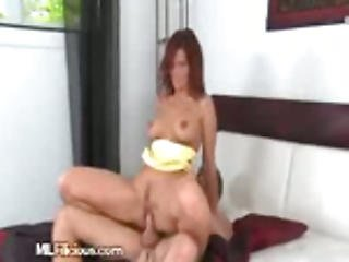 A Sexy Housewife Gets Spunk Shots From Doll Lover