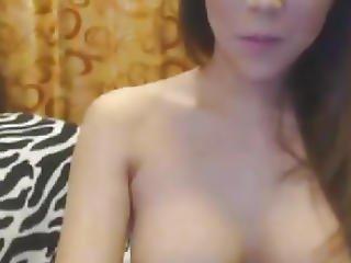 Sexy Hot Tranny Jerking On Cam