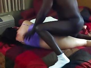 His Girlfriend Takes Black Dick Raw