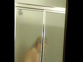 Spying On My Mature Mom Taking Shower