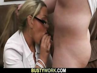 He Nails Hot Big Fatty At Work