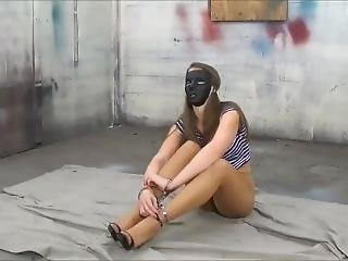 Terra Mizu Handcuffed,masked & Unmasked