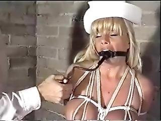 Ring + Pump Gagged Blonde Nurse Brandy Drooling