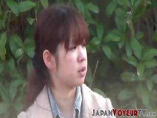 Young Japanese Babe Filmed Masturbating At A Bus Stop! She Could Not Wait To All Alone So That She Can Completely Relax!