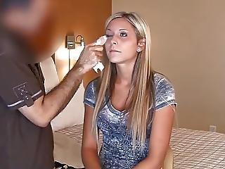 Tall Blonde Teen Interview Fuck Scene 1