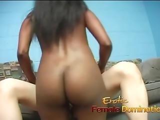 Slutty Ebony Playgirl Sits On A Kinky Asian Dude S Face