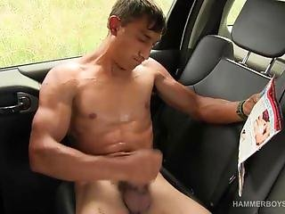 Muscular and Hung Petr Novagy Jerking Off