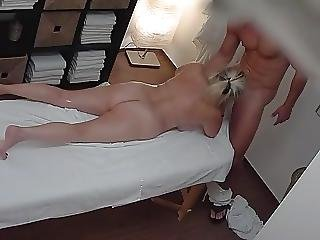 Breasty Older Golden-haired In A Massage Parlor