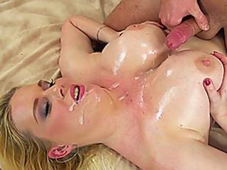 Oiled Chubby Milf Boobs Tit Fucked