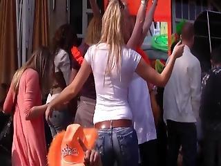 Queens Day Amsterdam Teen Ass