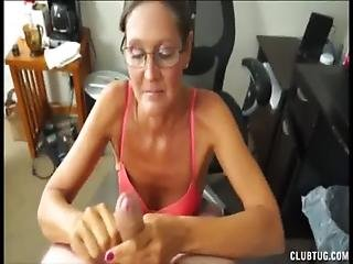 陰茎, 手淫, ぴくぴく動く, 成熟した, 熟女, いたずらな