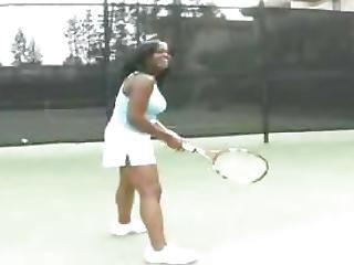 Ebony Tennis Beauty For Big White Dick