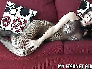 Rub Your Cock On My Fishnet Bodystocking Joi