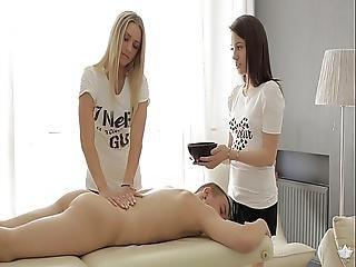 Anal, Knullar, Massage, Gammal, Sex, Trekant