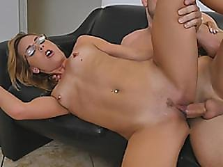 Jenny Jett Is Naughty Chick With Glasses Who Will Do Anything To Get That Job