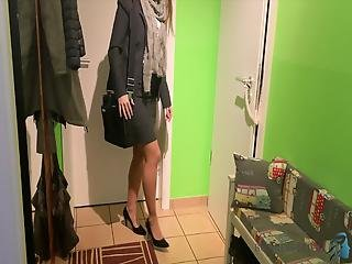 Woman In Business Look Has Quick Fuck Before Work-business-bitch