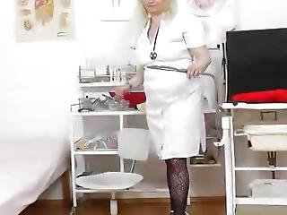 Closeup, Doctor, Hospital, Masturbation, Naughty, Nurse, Pussy, Speculum, Spit, Uniform