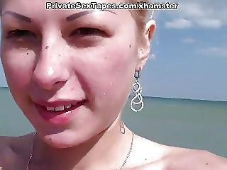 Sexy Blonde Gf In The Raunchy And Intense Fuck On Vacations