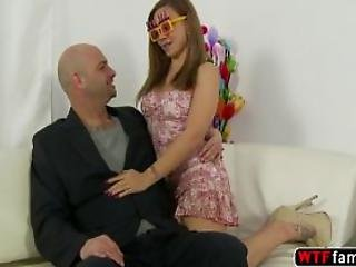 Hot Natural Tits Blonde Nychole Mac Enjoys Fucking Her Stepdad