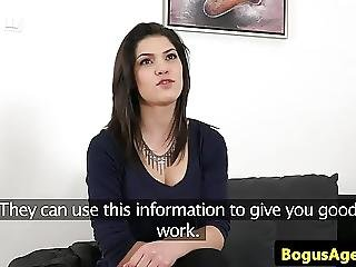 18yo Casting Beauty Cumsprayed By Fake Agent