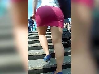 Spycam Perfect Blonde Milf In Tight Pink Miniskirt Exposes Her Big Wild Ass