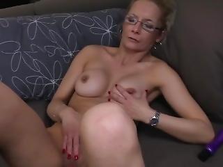 Mature Sue Masturbating.