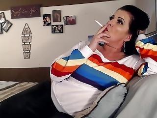 Cigarette Smoking Lesbian Long Haired Milf