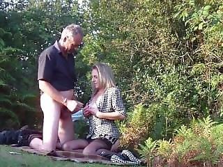 Amateur Milf Sucking Mature Strangers In Forest. Dogging
