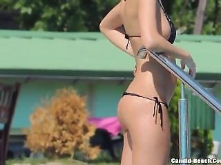 Sexy Bikini Hot Girls From Sexdatemilf.com Tanning At The Pool