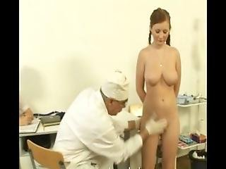 A Plump Busty Russian Babe On A Gyno Exam Gets Rude Treatment