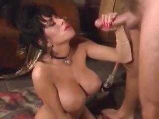 巨乳, フェラチオ, 精液をショット, 陰茎, フェティッシュ, マスターベーション, 熟女, レトロ, ビンテージ