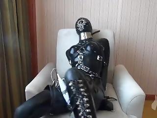 Latex Nun Bondage Orgasm