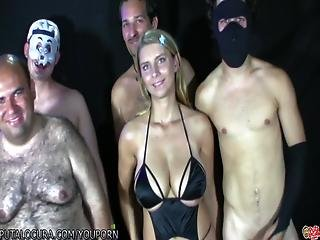 Putalocura Stunning Blonde With Big Tits Bukkake