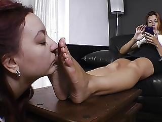 Sniffing Sweaty Mistress Feet